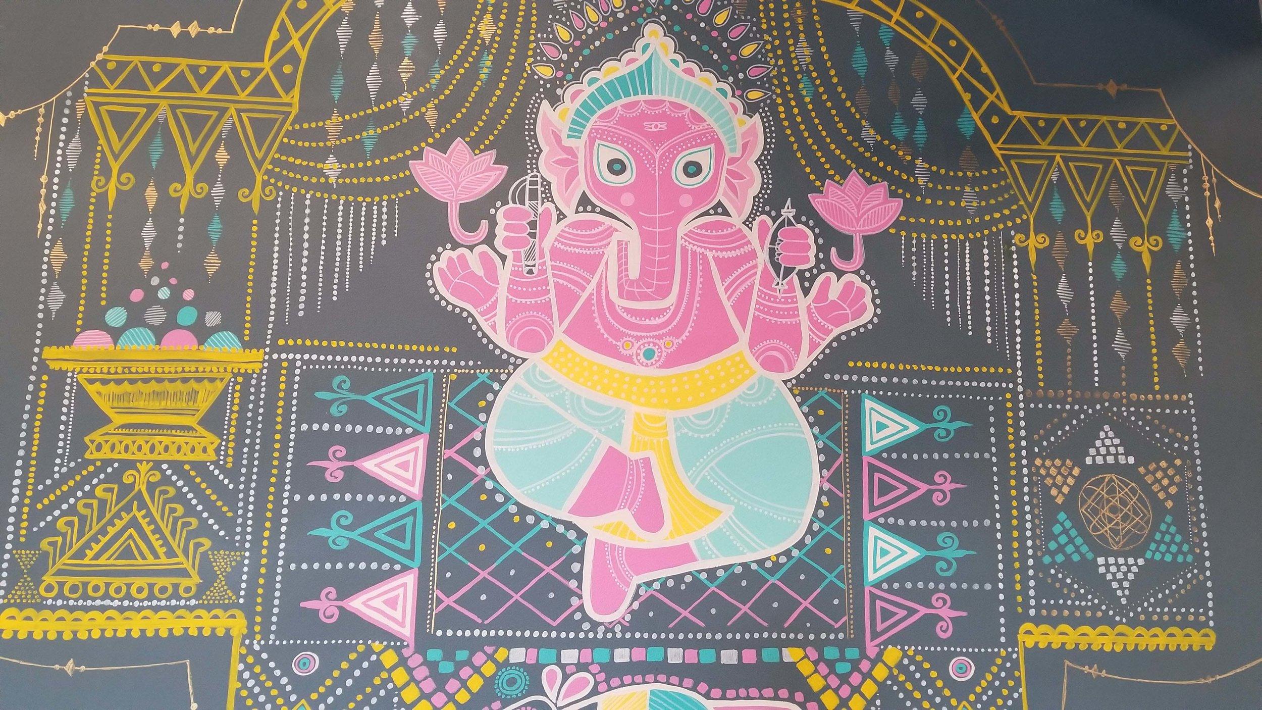 Ganesh Mural Wall Painting Brampton Jasmin Pannu.jpg