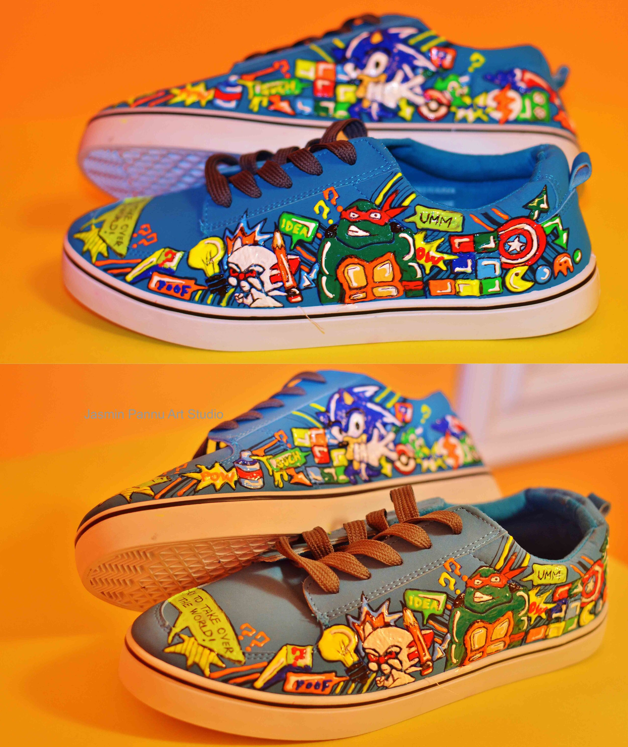 Hand Painted Adult Shoes — Jasmin