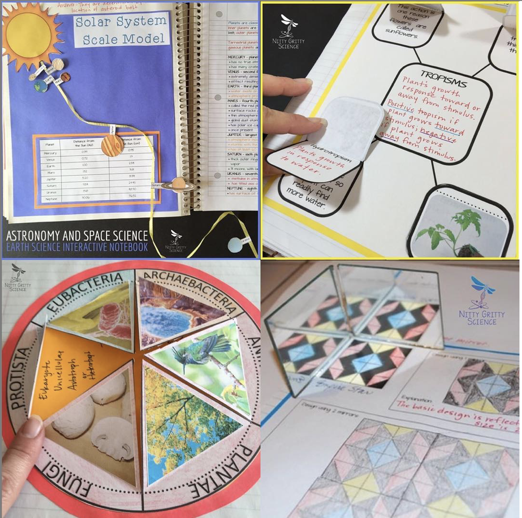 """Interactive Notebooks Make Science & Humanities Fun - Instead of reading a textbook and copying notes, students create their own """"popup book"""" style Interactive Notebooks (INB) in Science and Social Science, and Interactive Sketchbooks (ISB) in Visual Arts…"""