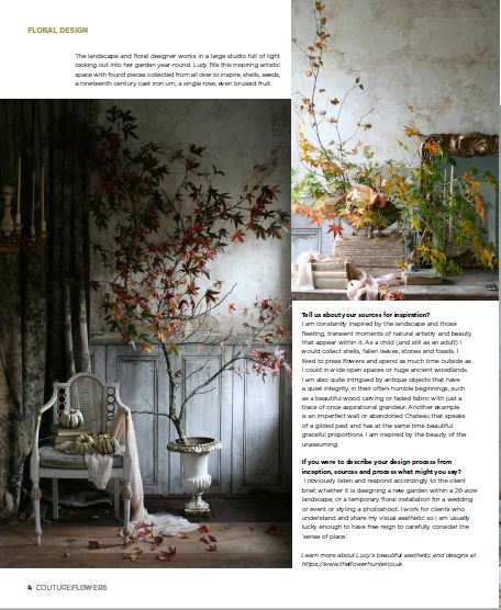 Couture Flowers Magazine. Fall/Winter Edition. Issuu. web link- bit.ly/2x7ovC0