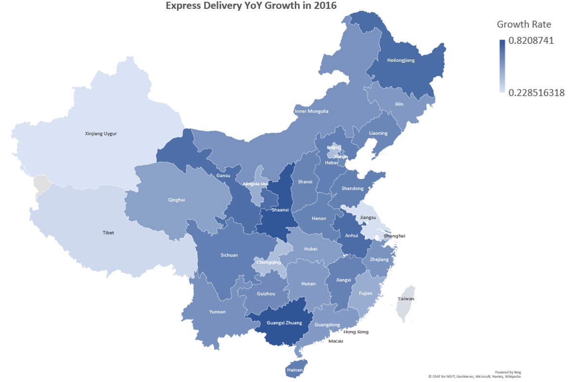 China Express Delivery YoY Growth in 2016.png