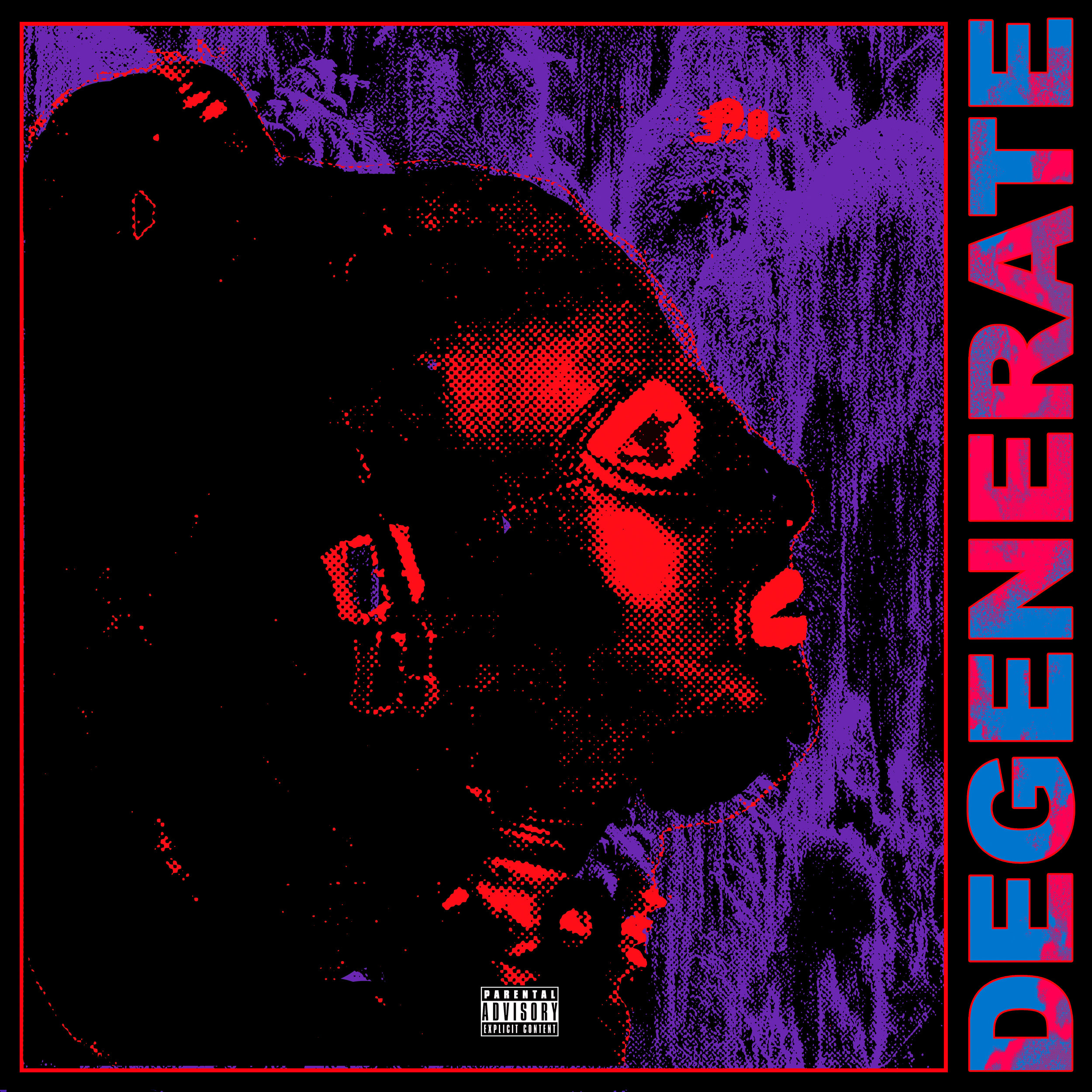"the cover for ""Degenerate"" Pictureplane's most recent album"