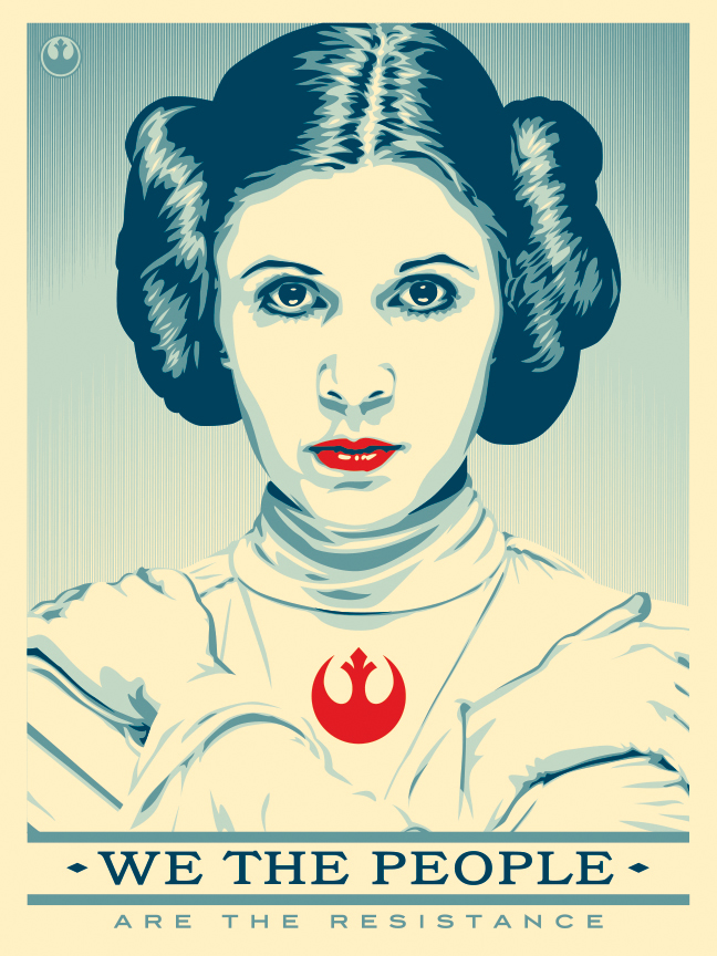 Rebel Princess poster - my pastiche to OBEY street artist, Shepard Fairey.
