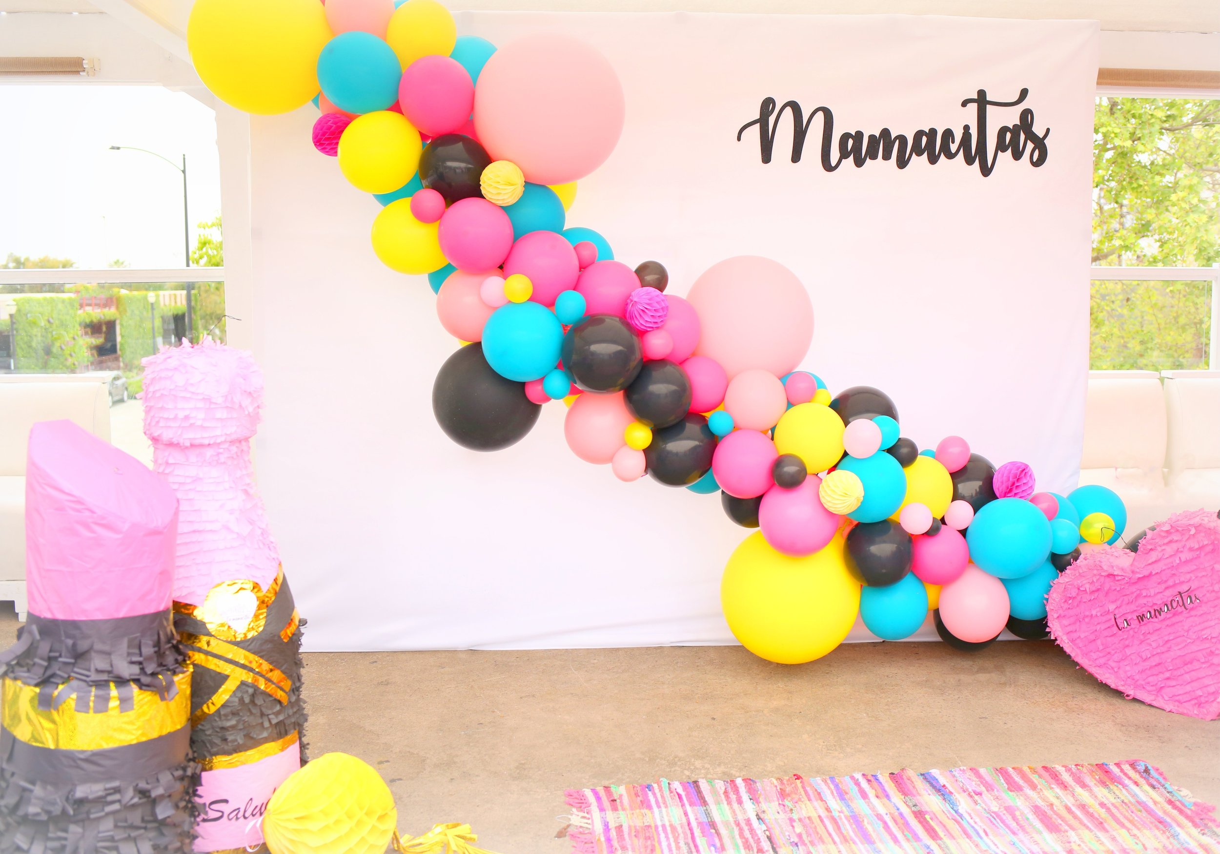 Beautiful balloon garland created by the amazing and talented  Ivy+Paper