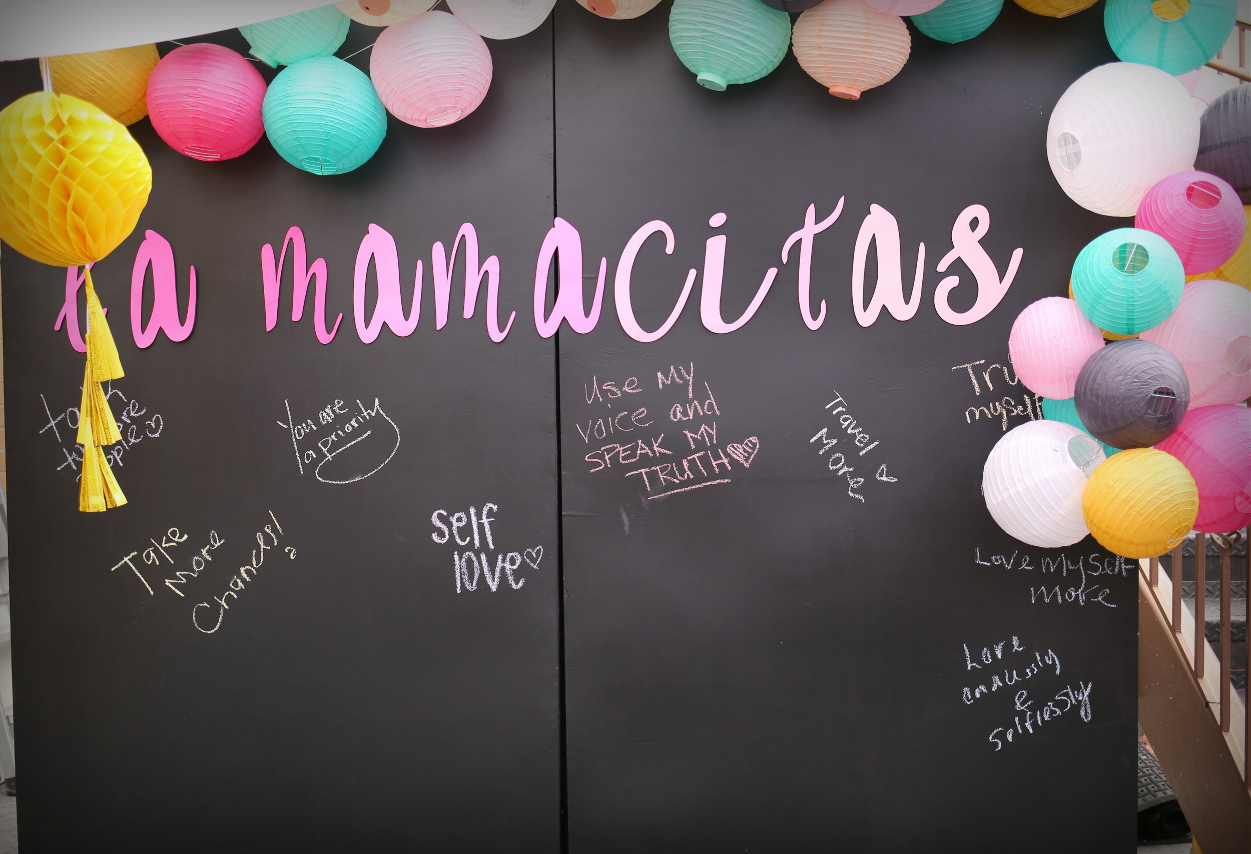 LFR  personalized this chalkboard wall for our Mamacita Market. Beautiful work!