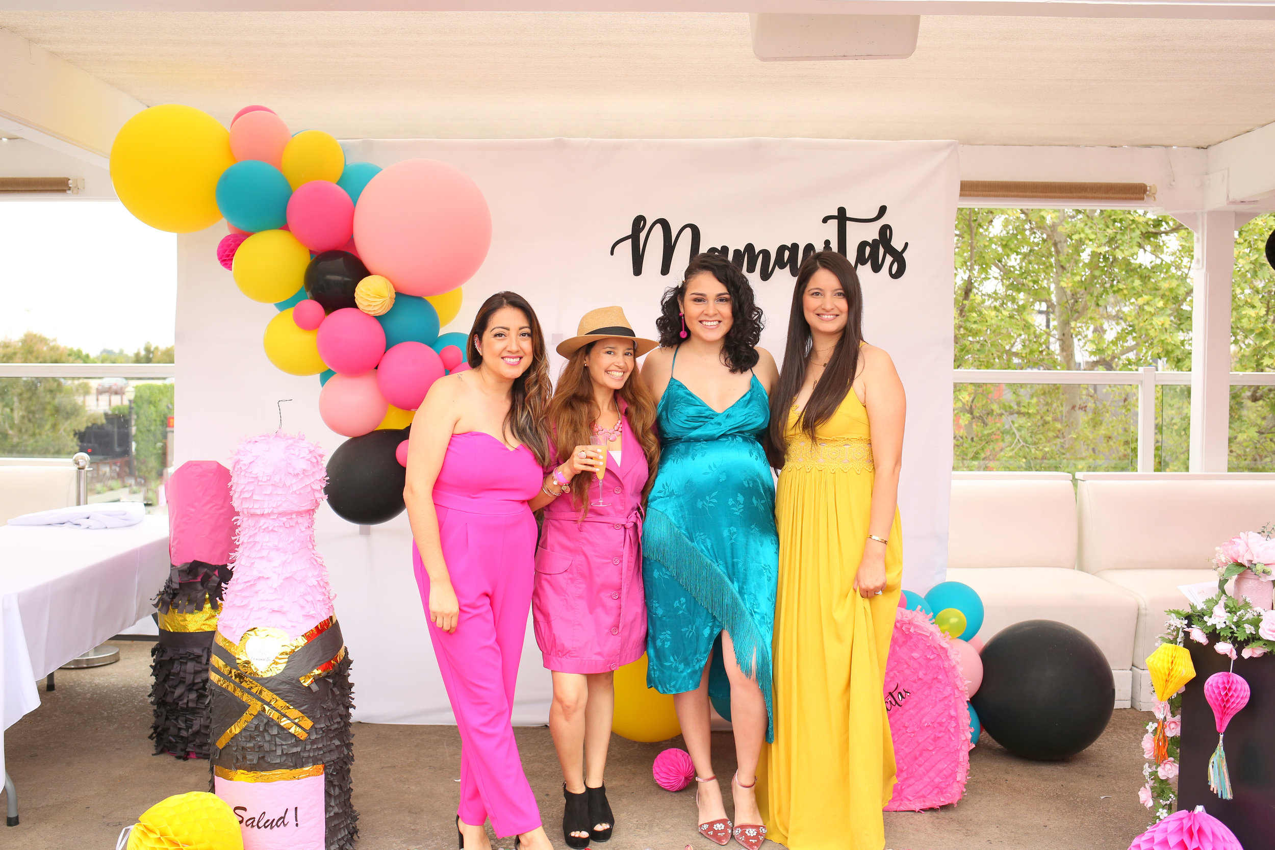 Cynthia (founder of  Sweets with Love  is pictured here with the L.A Mamacitas team.