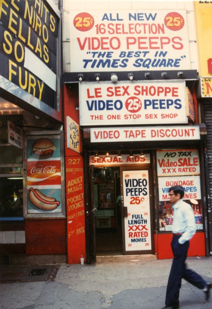 Grand Luncheonette and peep shows, Times Square, 1980s