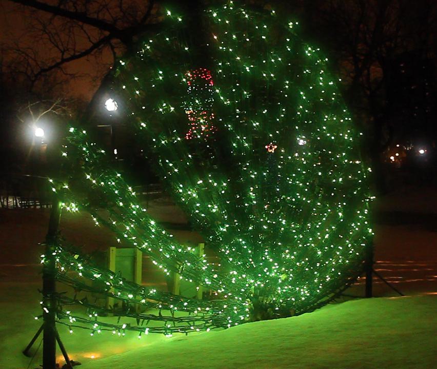 Green LED Holiday Lighting