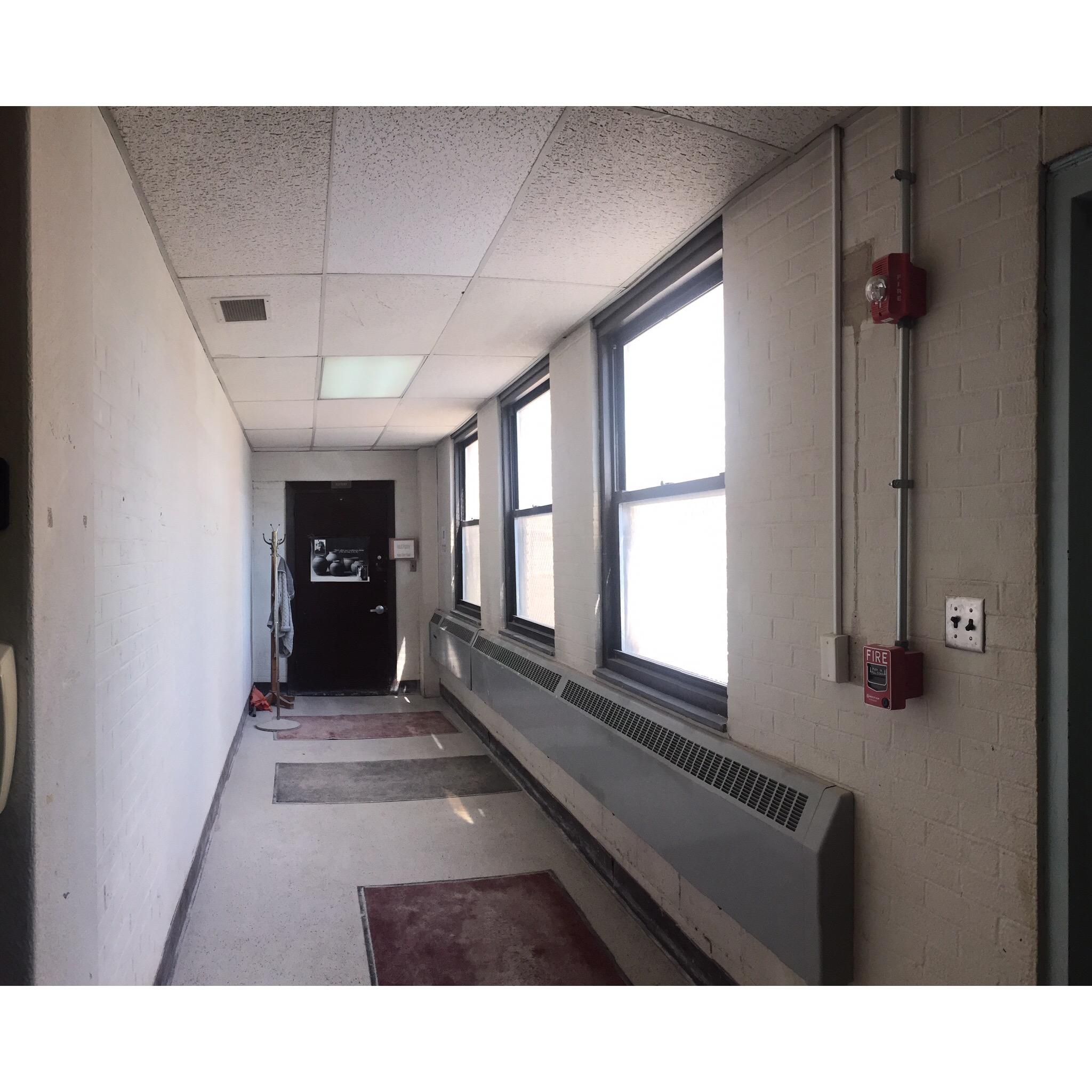 Before shot of hallway