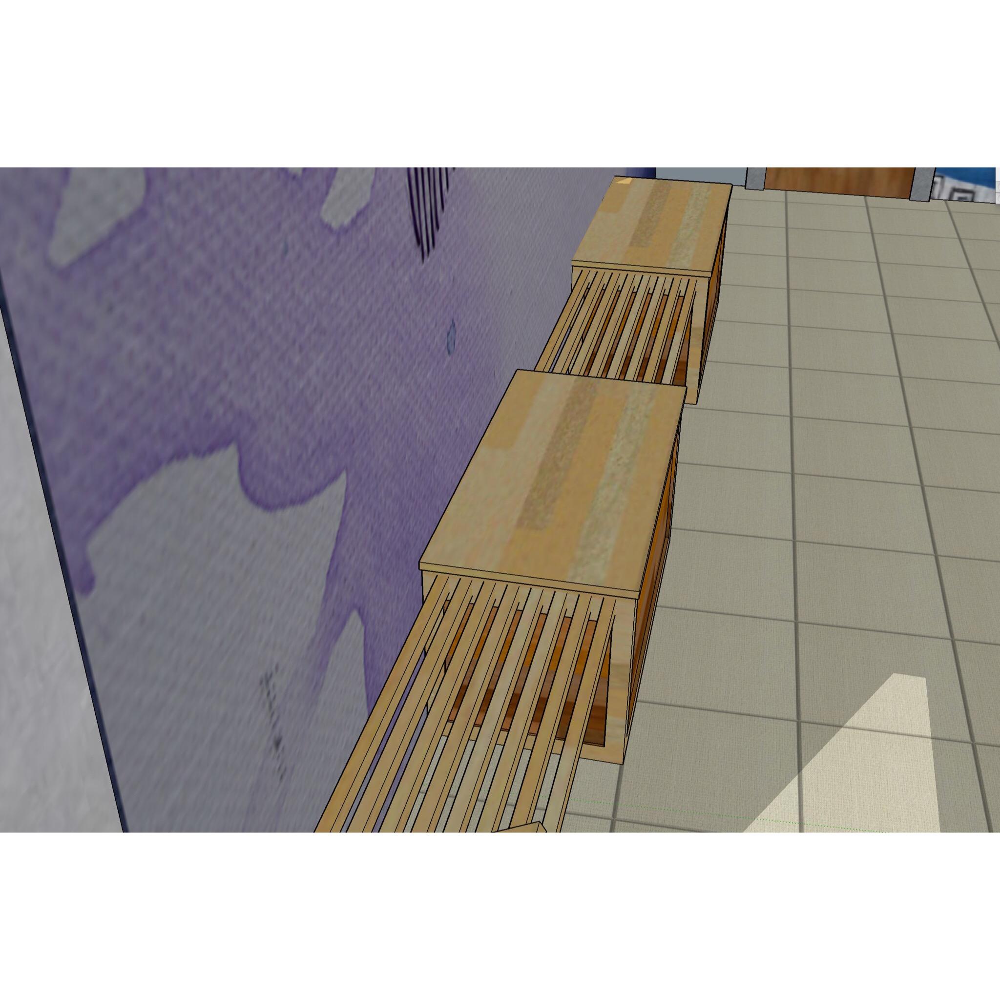 Still shot of digital 3D hallway design mock up