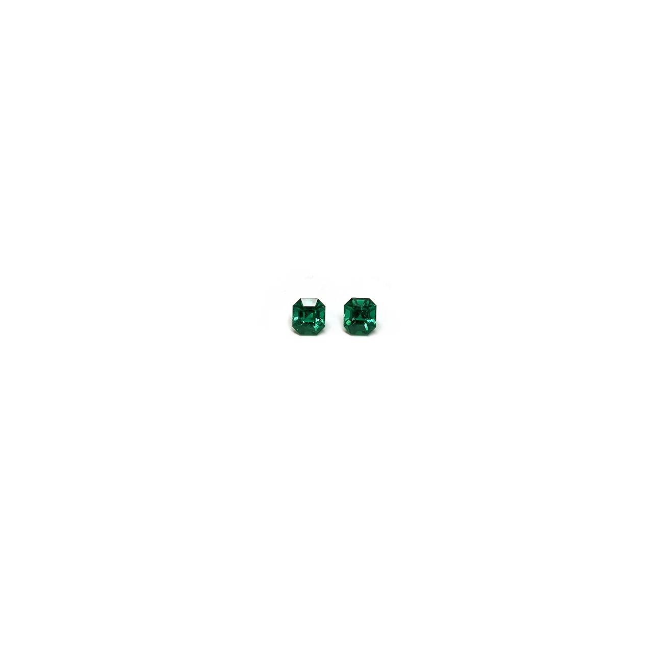 4 carat emerald cut pair