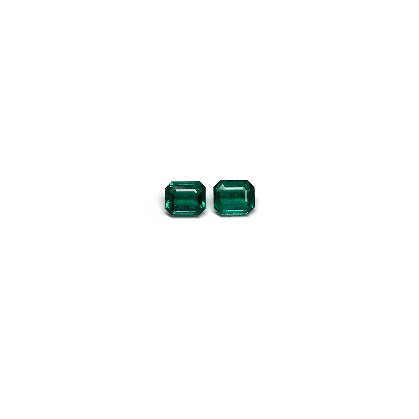 10 carat emerald cut pair