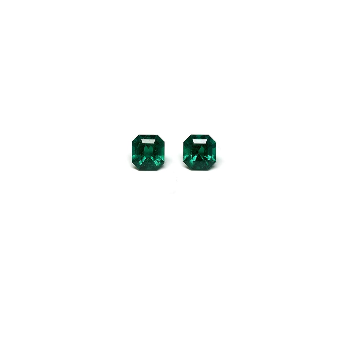 9 carat emerald cut pair