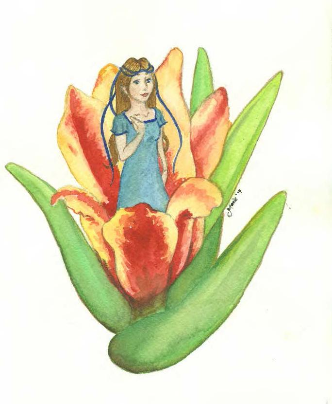 Thumbelina. Concept artwork by Marie Noel Bencivenga.