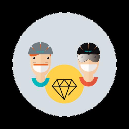 Mit der gegenseitigen Unterstützung profitieren Bikmo und die Bikeshops von der Zusammenarbeit und stärken den lokalen Handel.