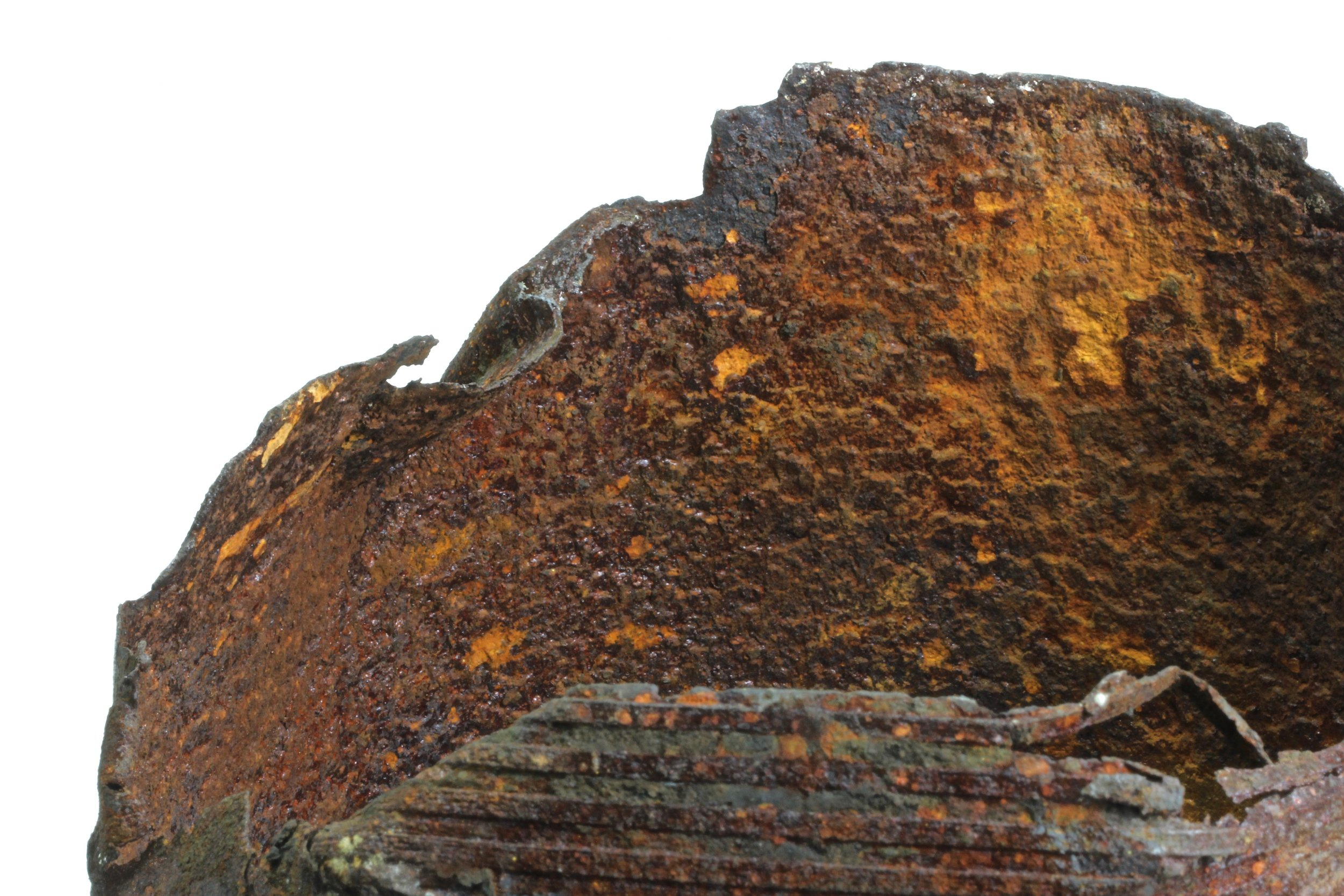 Salt Water Disposal Well Casing - Casing removed from a disposal well suffered extensive wall thickness loss. The internal wall and buttress thread forms were reduced to paper-thin sections.