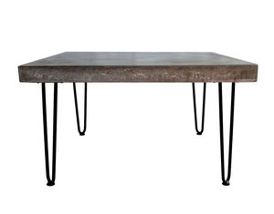 Square Concrete Coffee Table Slab And Timber