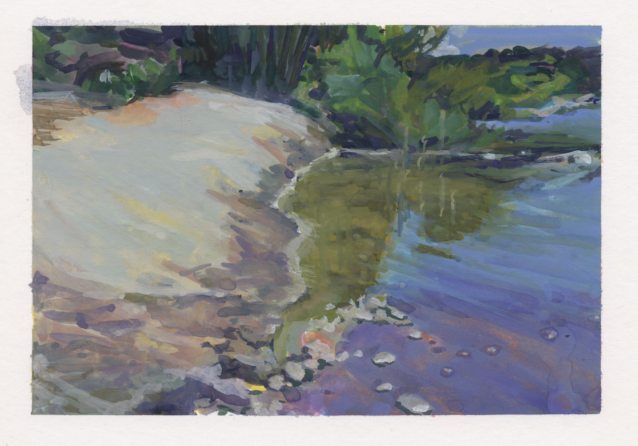 River Bank by Pamela Zwehl-Burke