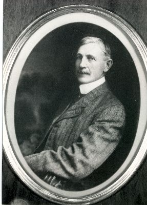 A Portrait of R.H. Agur, the second Reeve of Summerland.