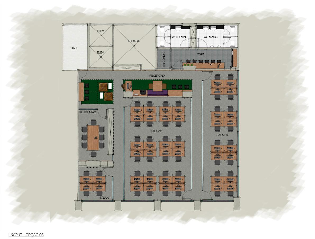 Opção de layout 16 e 24 posições