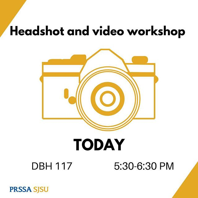 See you at 5:30 for our headshot and video workshop!📸