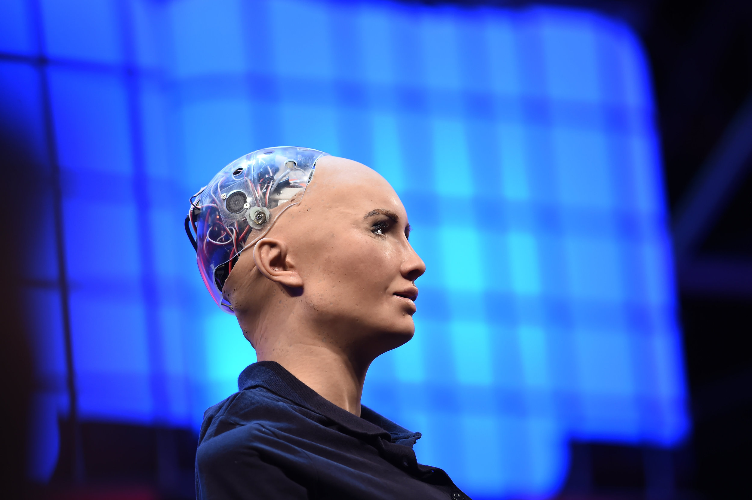 """EMOTIONAL: """"I have feelings too"""", Sophia the robot claims. This may have consequences, researcher Deborah G. Johnson warns. PHOTO:  Stephen McCarthy/Web Summit via Sportsfile/Flickr"""