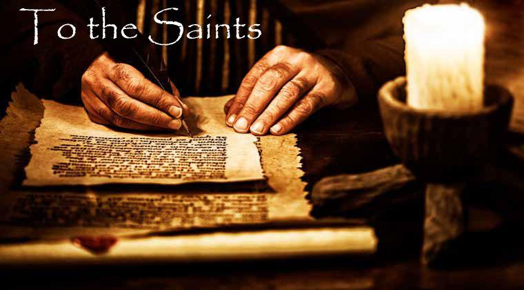 To the Saints - September 16, 2018 Randy HammEphesians 1:1-3