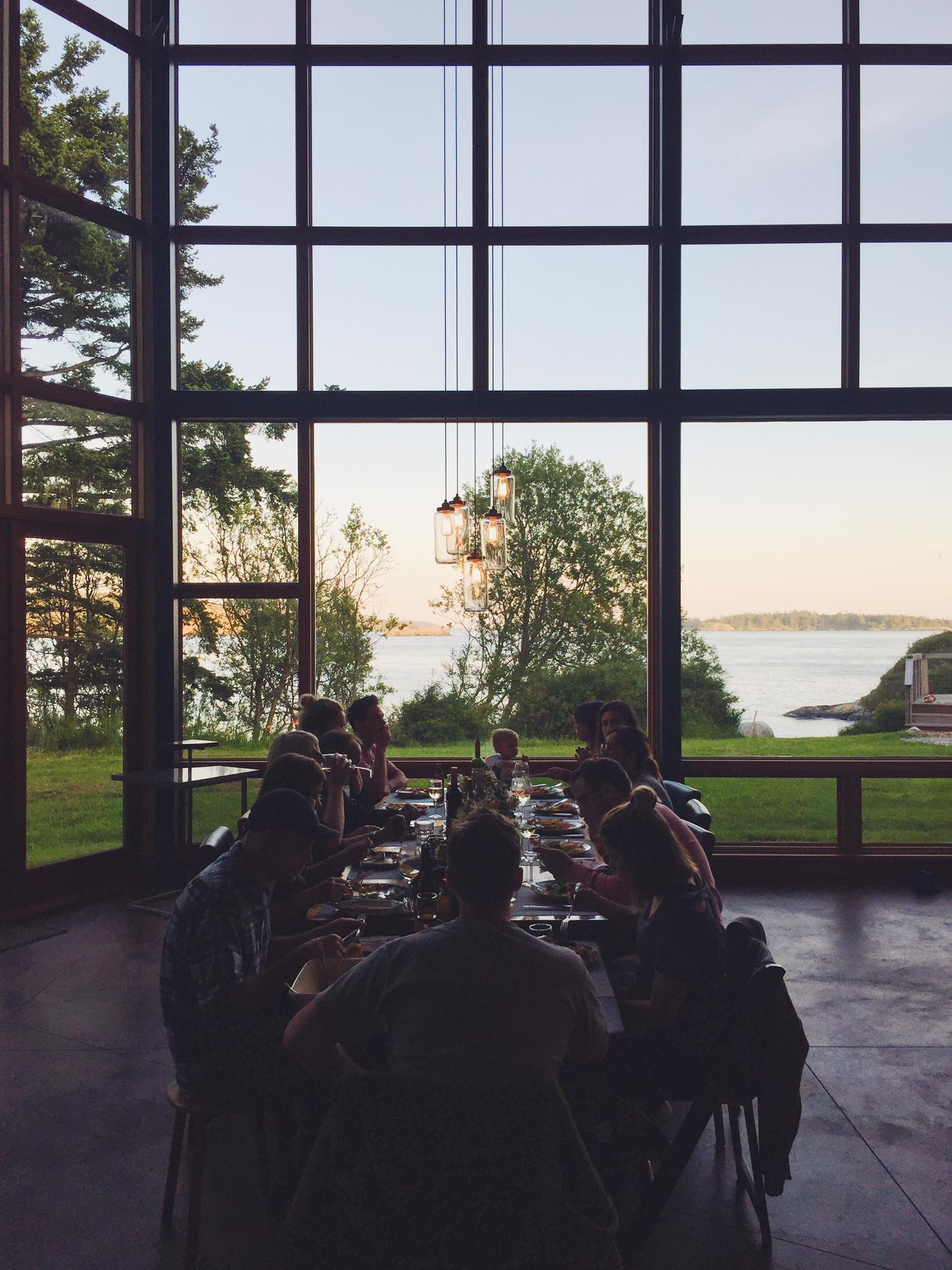 A retreat in the San Juan Islands, Washington USA,for entrepreneurs and young professionals with Creatives/Philanthropists Steve and Elaine Fraser. (Photo:  Andrew Salituri )
