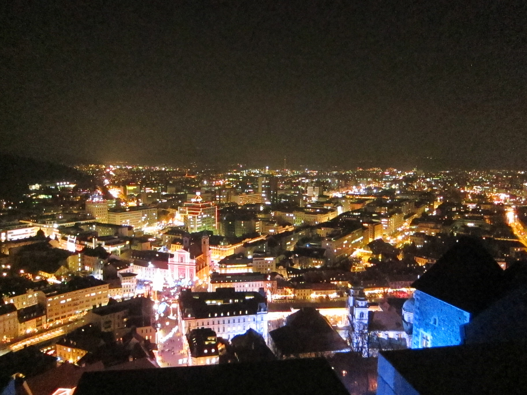 On top of Castle Ljubljana (Excuse the quality)
