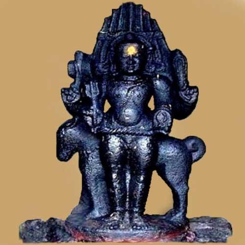 Indra, with SaramA.