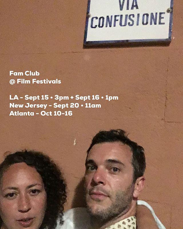 Still going strong with @famclubofficial • LA - @kapowiff  NJ - @njwebfest  ATL - @urbanmediamakers •