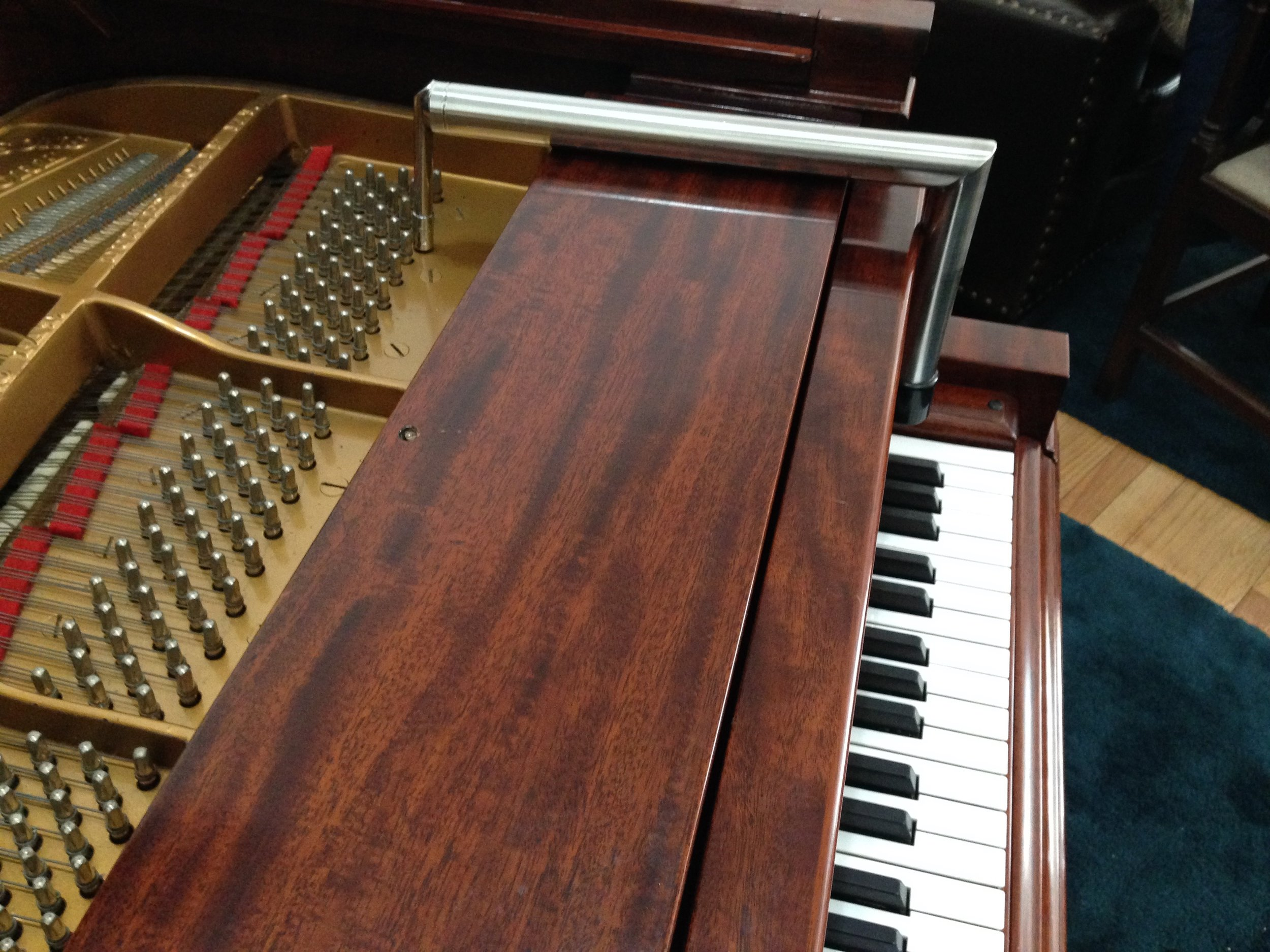 You'll also need an L-lever for pianos like the Steinway/Aeolian O.