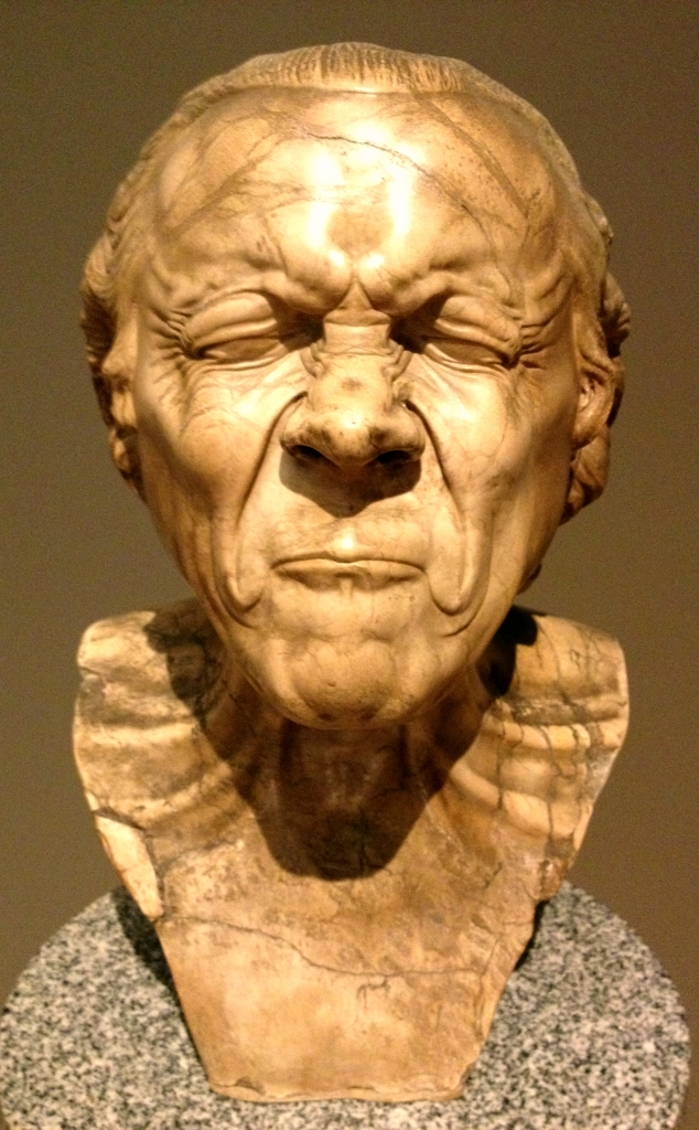 The Vexed Man at the Getty Museum in LA is trying VERY HARD.