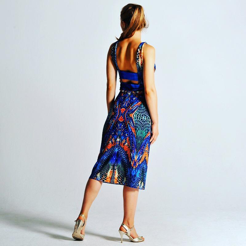 OLVIA abstract print dress by Colección Berlin