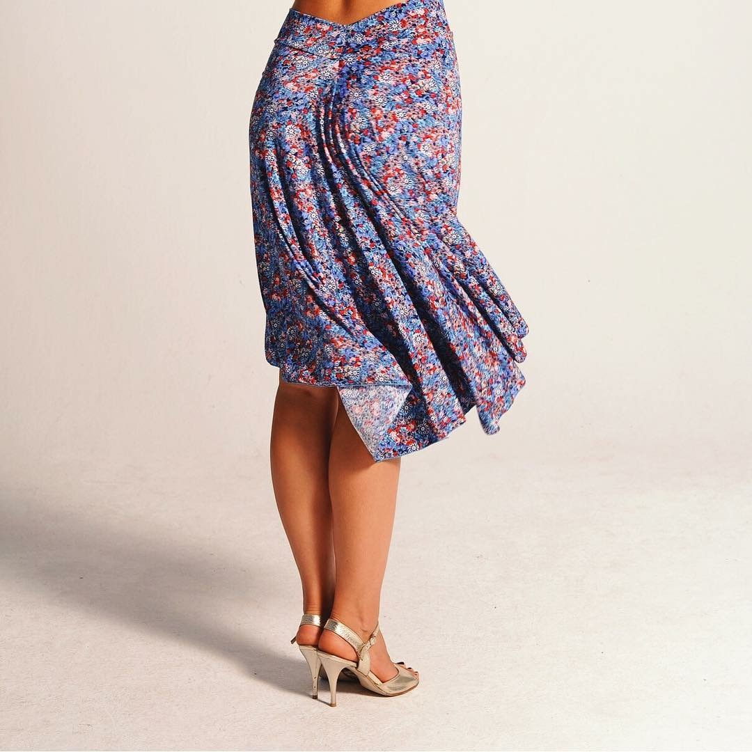 PAOLA royal blue floral skirt.JPG