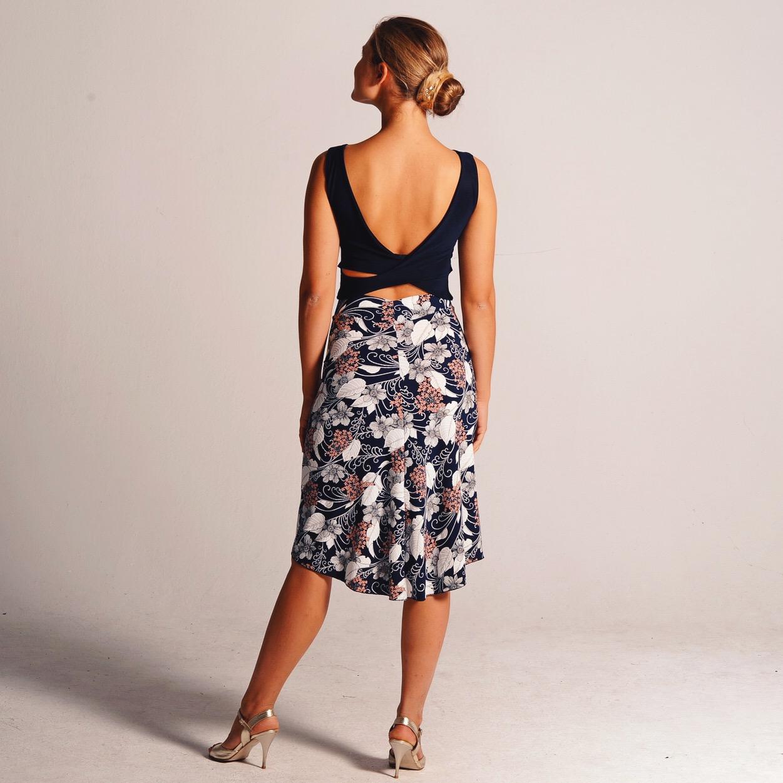 BELLA white leaves tango skirt.JPG