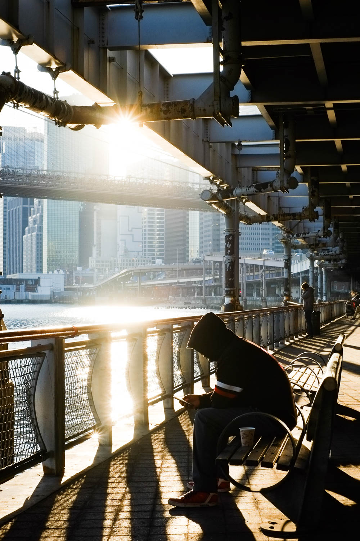 Two Bridges in Manhattan during a sunset. Fujifilm X-pro1, Fujinon 35mm f/1.4. 1/250 @ f/8 ISO 200