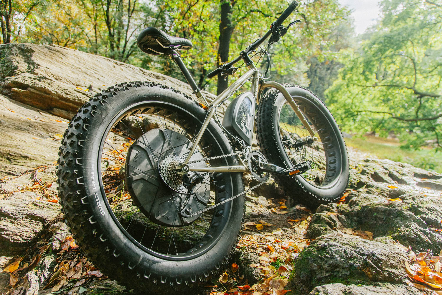 Surly Fat Bike in Central Park, Manhattan. Canon 5D Mark II, 50mm f/1.2.