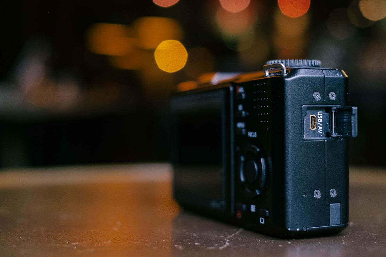 Sigma DP2 Merrill USB/AV port. Fuji X-Pro1, Fujinon 35mm f/1.4.