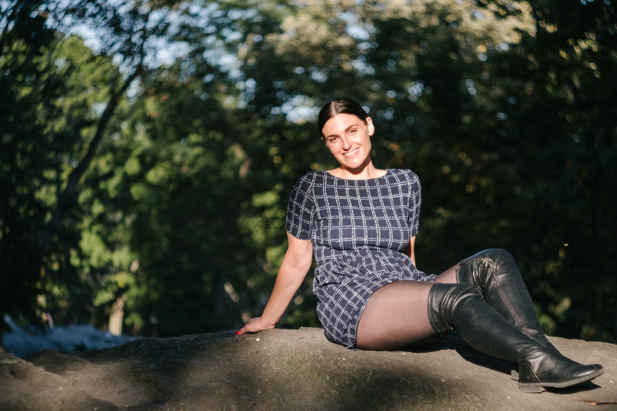 Allison in Central Park. Fuji X-Pro 2, Helios 44-4.