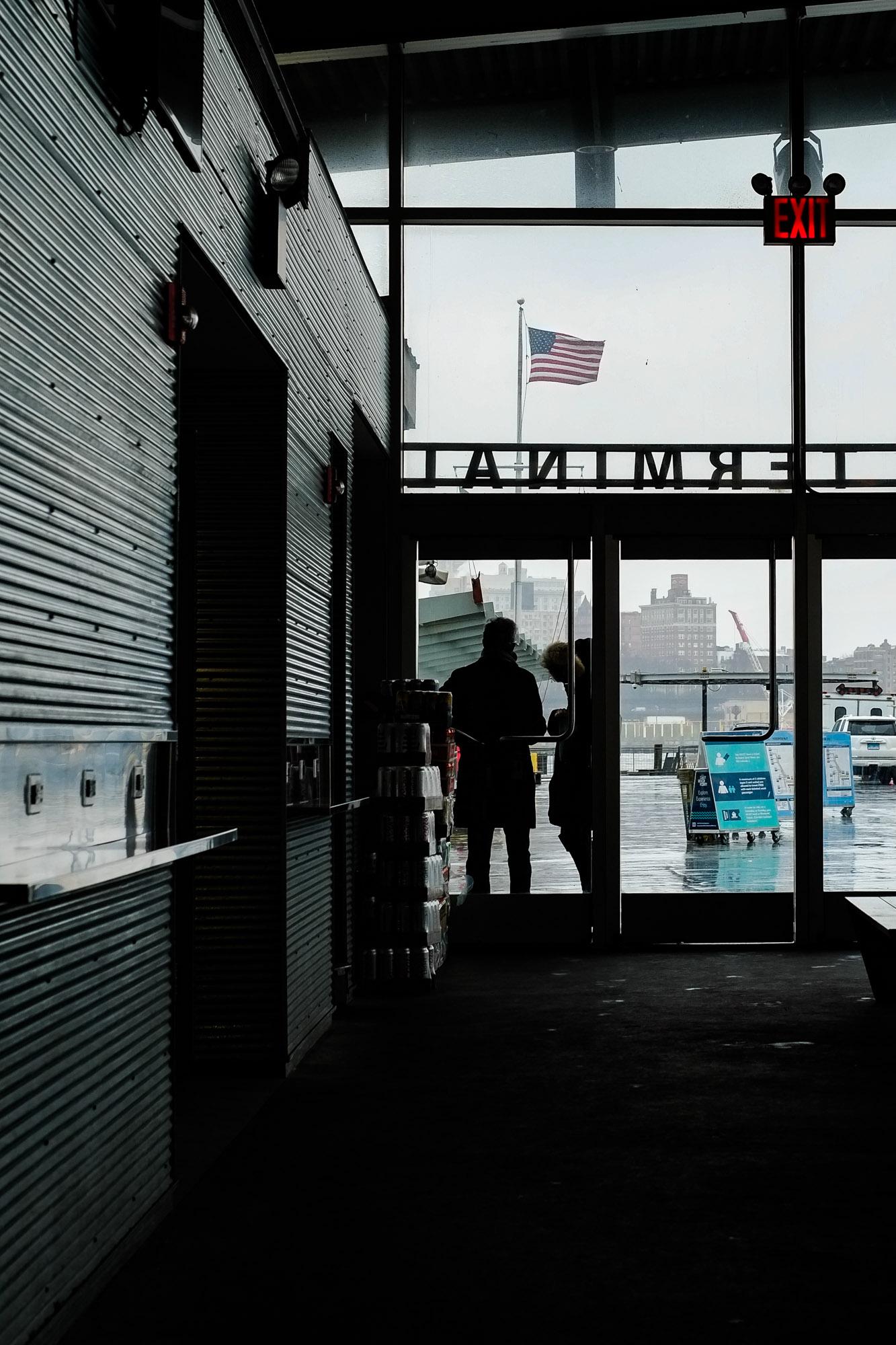 A man waiting for the ferry. Fuji X-pro1, Fuji XF 35mm f/1.4.
