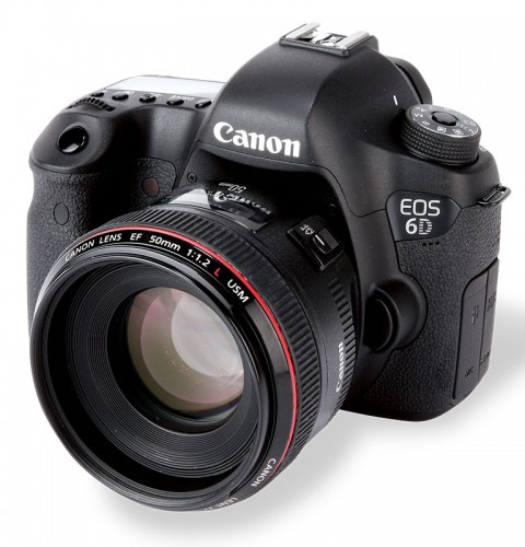 The Canon 6D with a 50mm f/1.2 lens. Source:  amateurphotographer