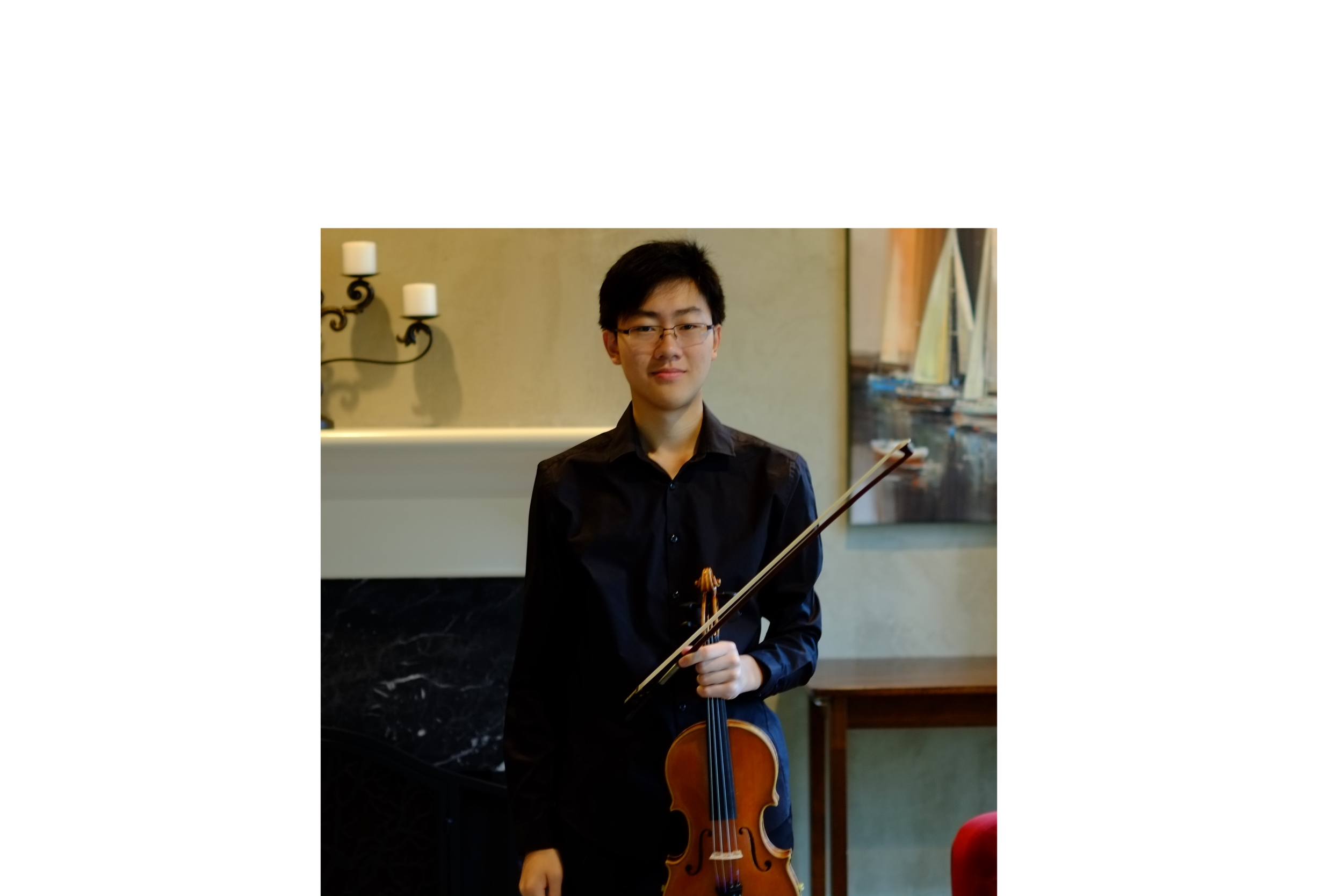 Brian Zhan , 17, is a senior at the Charlotte Country Day School. He has played violin for 13 years and is currently studying with Dr. Ernest Pereira and Victoria Pan. Previously, Brian was the assistant concertmaster of the Charlotte Symphony Youth Orchestra and is currently in the Youth Orchestra of Charlotte. In 2017 and 2018, he was a runner up in the Symphony Guild of Charlotte's Young Artists Competition in both the junior and senior division. In 2019, he was selected as a finalist in the Hilton Head Concerto Competition. In past years, he has served as associate concertmaster and concertmaster in the Western Regionals Orchestra, concertmaster of the North Carolina All-State Orchestra, and most recently, he was selected to be a participant in the NAFME All-Nationals Symphony Orchestra in Florida.  Over the past summers, Brian has attended music festivals such as the Philadelphia International Music Festival, the Eastern Music Festival, the Meadowmount School of Music, and the Heifetz International Music Institute. He has studied with renowned faculty such as Ani Kavafian, Elmar Oliveira, Mark Kaplan, Bela Horvath, Kikuei Ikeda, Kimberly Fischer, and Ara Gregorian.