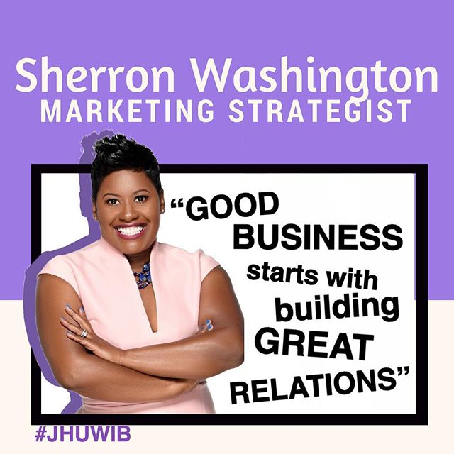 Sherron Washington is a CEO, author, marketing & communication expert, and professor. For more than a decade, she has imparted her wisdom and expertise in marketing, communications, branding, and design. As CEO of the P3 Solution, a marketing and communication (marcomm) firm, that creates innovative marketing and communication solutions for non-profit organizations, associations, small businesses, and entrepreneurs. She is also a business and communication professor at two local universities and is the author of Market Simple: The Blueprint I Wish I Had Before I Started A Business. #womanwednesday #jhuwib