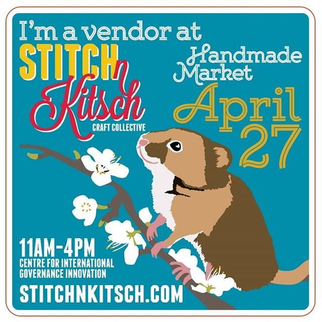 Next Saturday!  Super excited to be a vendor at @stitchnkitschkw's Handmade Market! We will be there with our naturally dyed plant hangers,  macrame wall hangings, woven moons, owls and hand woven rope baskets. Kitchen utensils from our rustic wood collection will also be available. Can't wait to see all of your lovely faces 🧡  Happy Spring 🐰🐣🌿 . . . . . . . . . #theferalknot #makingmacramecoolagain #knots #iloverope #makersgonnamake #kwawesome #wrawesome #dtklove #dtkitchener #kitchenerartist #macramazing #textileart #fiberart #stitchnkitsch
