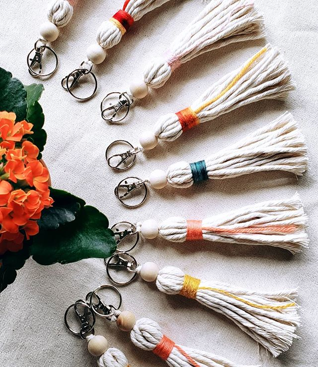 Tassels GALORE! We know how much you love our tassels. These ones are combo key chain/clip on tassels for all your fashion needs! . 65 of these sweet babes will be in the @holisticparentmag Market's swag bags. Come out on May 11 and get your swag on ☀️ . Will also have some available for purchase in case you don't arrive early enough for swag bags! . . . . . . . #tassels #tassel #theferalknot #makingmacramecoolagain #knots #iloverope #makersgonnamake #kwawesome #wrawesome #dtklove #dtkitchener #kitchenerartist #kitchener #uptownwaterloo #cultkw #makeitkitchener #supportlocalartists #kitchenerfiberartist #cambridge #galt #hespeler #gotswag