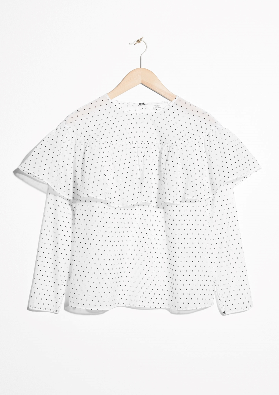 & OTHER STORIES - POLKA DOT FRILL BLOUSE