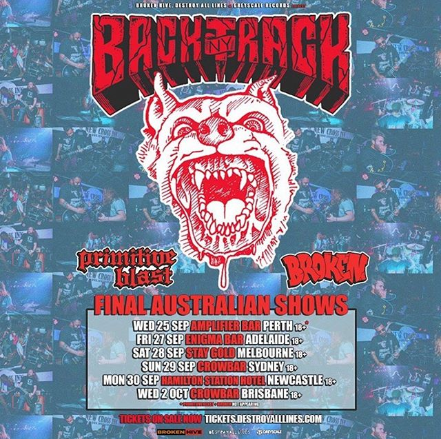 Australia tour coming up soon w/ @primitive.blast & @brokenworldwide - tix at @oztix