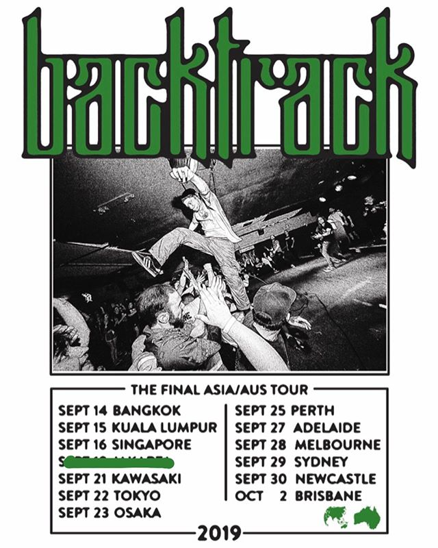 Southeast Asia, Japan, Australia Tour starts this Friday in Bangkok. This is the last time we'll be playing these countries and we're siked to be able to do it one last time.