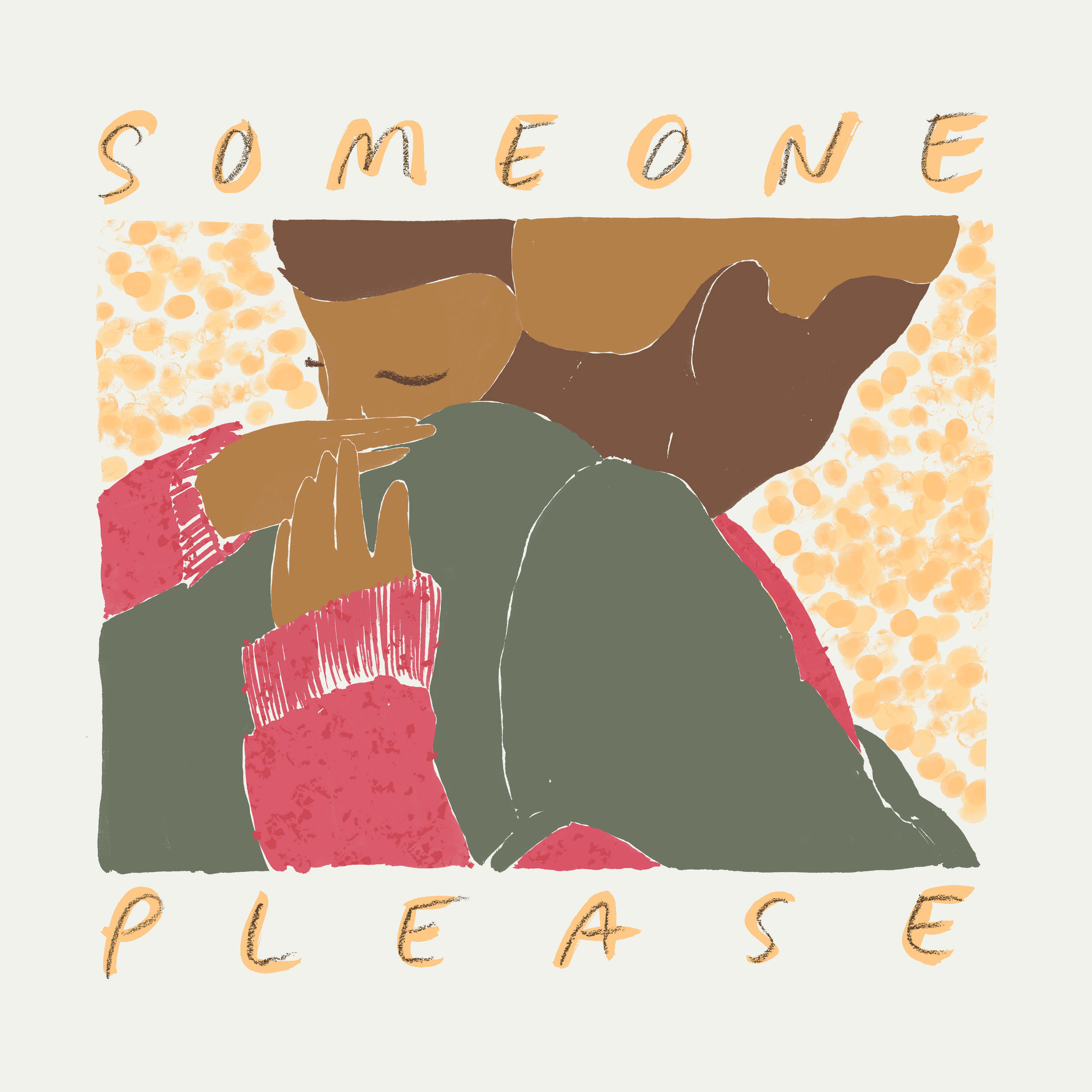 """1. Samad Abdul  (@Samad_durrani88) """"Some one plz stop my tears. Some one plz kill my pain. Some one plz hold me tight. Some one plz make me smile."""" - Illustration by Allison Colpoys"""